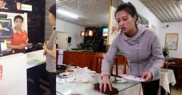 餐厅饭店做服务员累工资还低,用手机免费兼职赚钱又能有一份收入