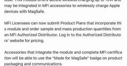 苹果开放15W MagSafe无线充认证