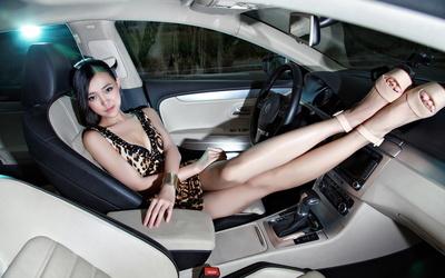 逸影网美女与车