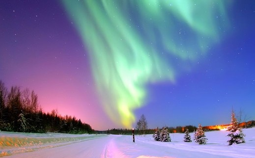 漠河,北极光