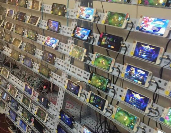 游戏工作室群控iphone苹果手机玩王者荣耀