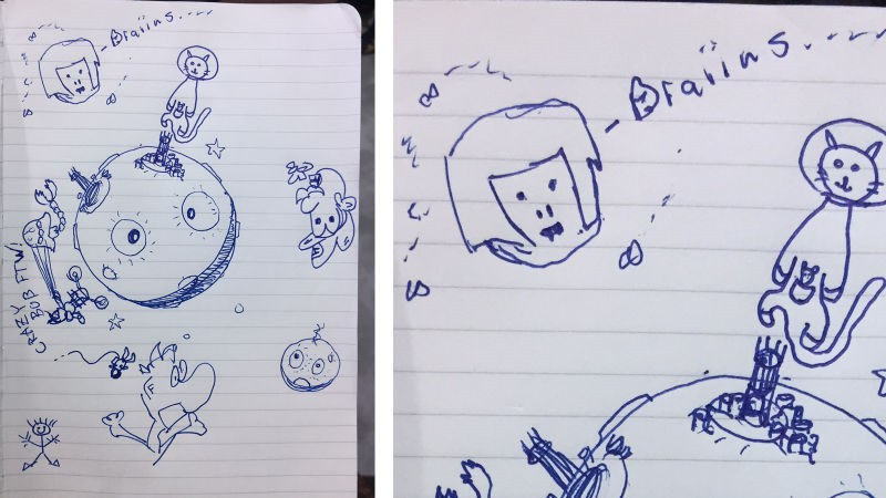 游戏开发公司的开发者画的一幅非常可爱的画