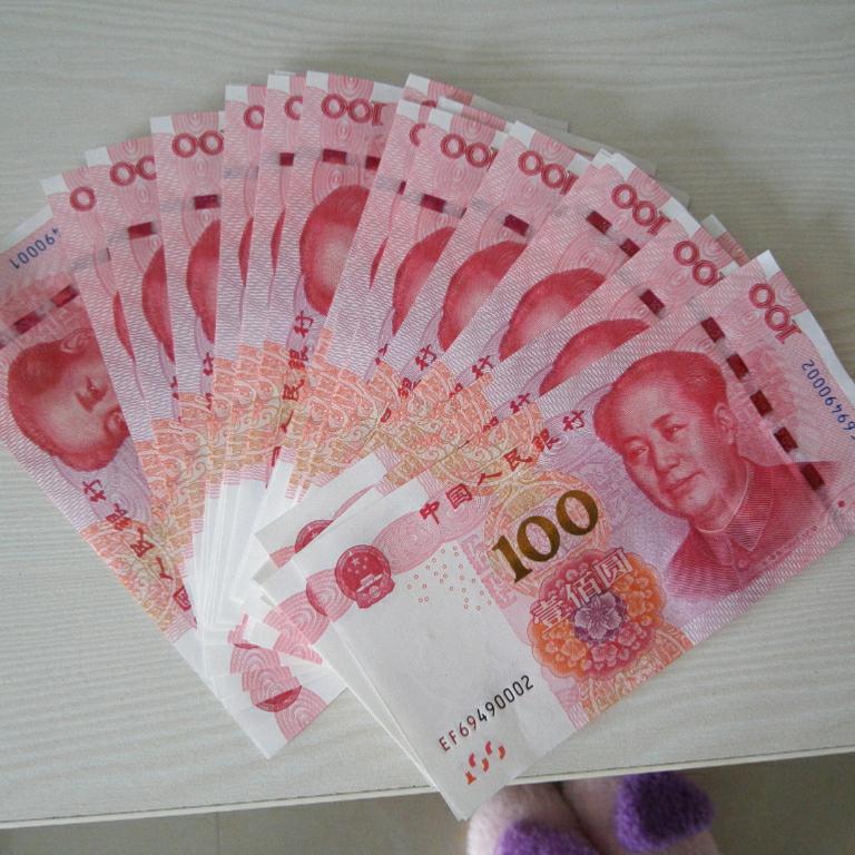 100元人民币,好多钱啊!