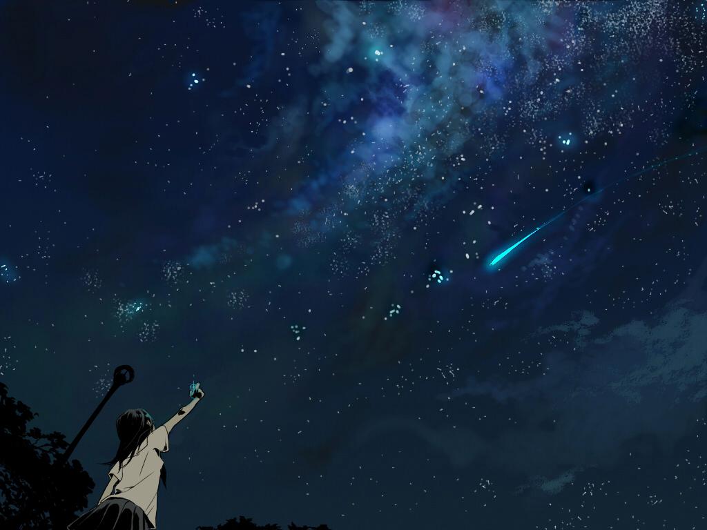 在夜空中,回到从前