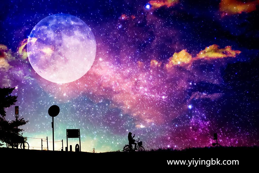 夜晚的星空