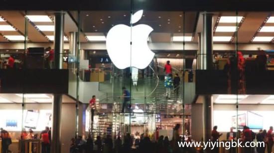 苹果中国公司夜景实拍