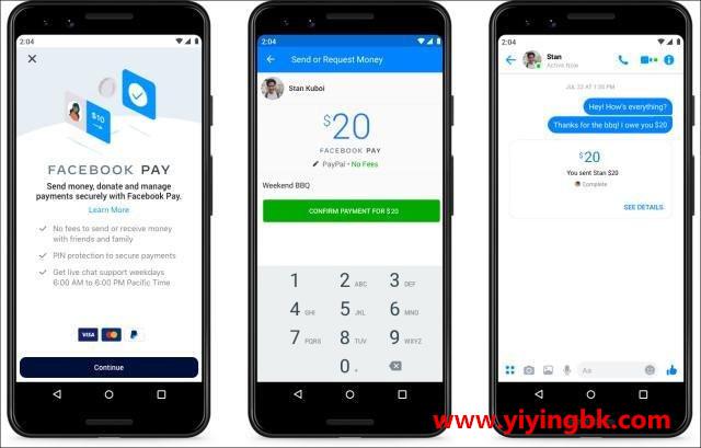 facebook支付,脸谱网支付