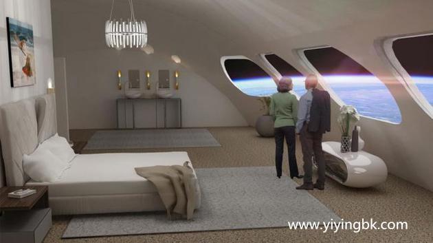 人在太空宇宙飞船上