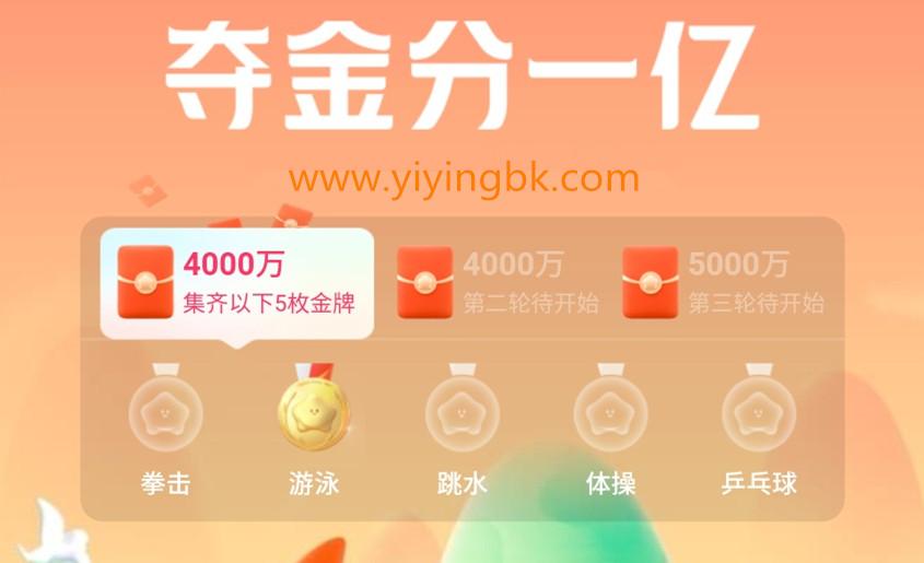 夺金分一亿,第一轮分4000万红包,www.yiyingbk.com